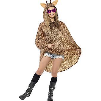 Žirafa Kostým strana Poncho žirafa Poncho dážď bunda festival kostým