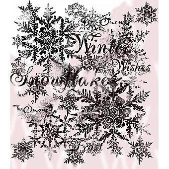 Woodware Snowflakes Clear Stamp