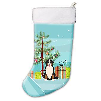 Merry Christmas Tree Bernese Mountain Dog Christmas Stocking