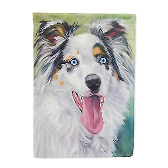 Carolines Treasures  7358GF Australian Shepherd Blue Eyes Flag Garden Size