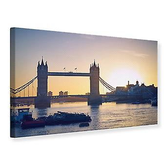 Canvas Print Tower Bridge bij zonsondergang