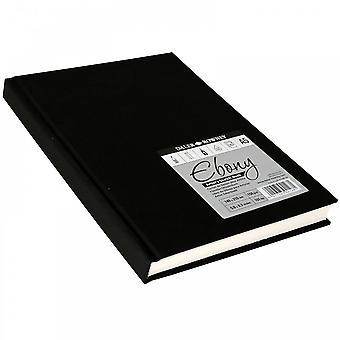 Daler Rowney difícil volta ébano acoplado Sketch Pad branco páginas A5