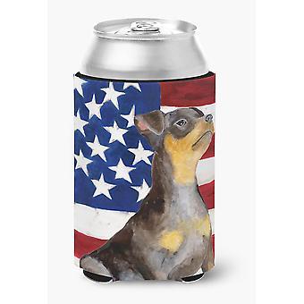 Miniature Pinscher #2 Patriotic Can or Bottle Hugger