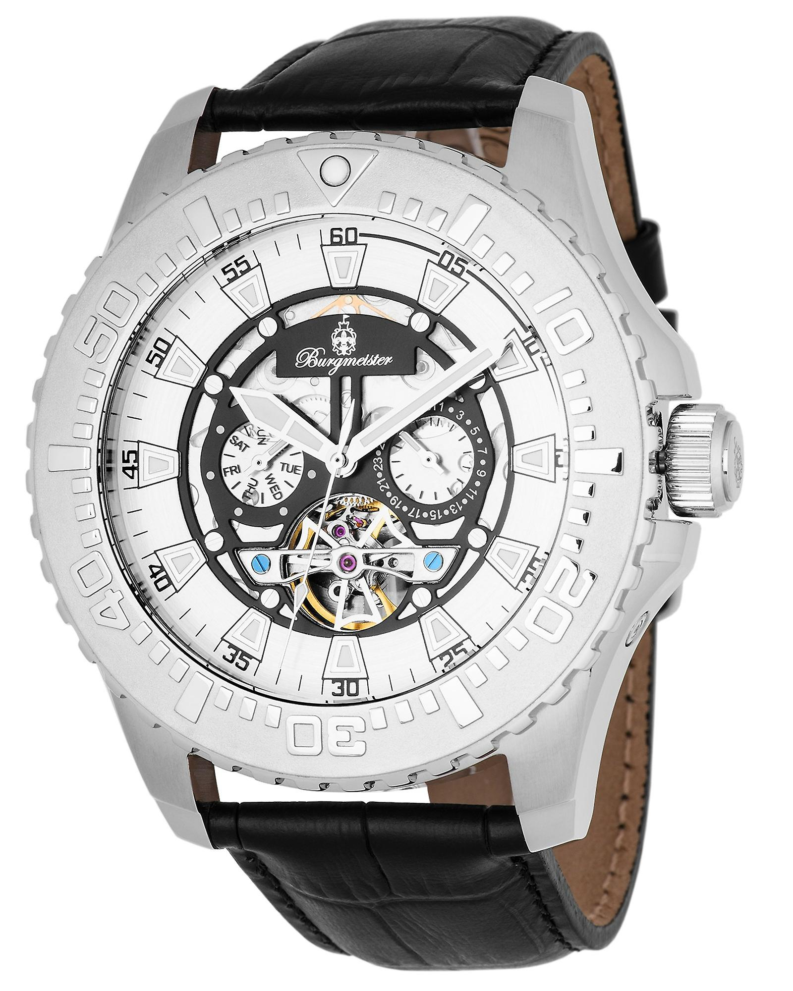 Burgmeister BM339-112 Blackpool, Gents automatic watch, Analogue display - Water resistant, Stylish leather strap, Classic men's watch