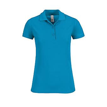 B&C Collection Ladies Safran Timeless Three Button Cotton Polo Shirt