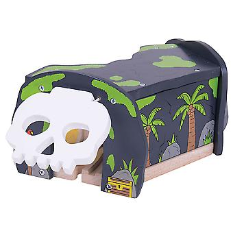 Bigjigs Rail Wooden Skull Cave Through Tunnel Railway Accessories