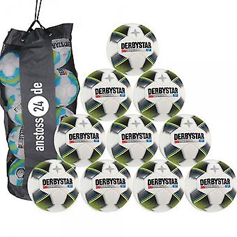 10 x DERBY STAR youth ball - JUNIOR PRO LIGHT includes ball sack