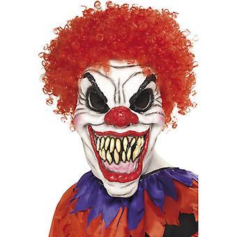 Horror Clown Maske Schaumlatex sehr echt Horrorclown mit Haar