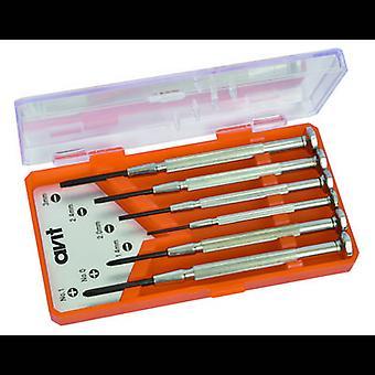 AVIT AV05010 Elektrik ve hassasiyet mühendisliği Tornavida seti 6 parçalı yuva, Phillips