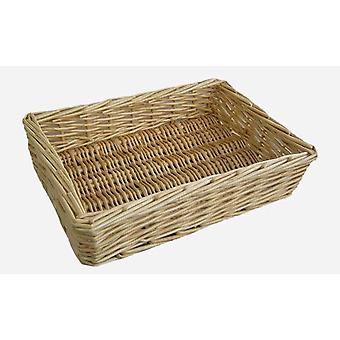 Medium Straight Sided Rectangular Wicker Tray
