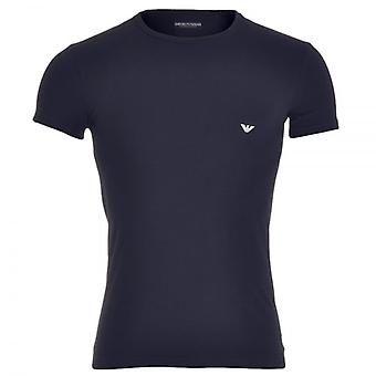 Emporio Armani Fashion Stretch Katoen bemanning hals T-Shirt, Marine, Medium