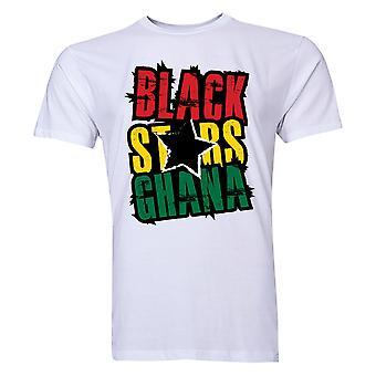 Ghana musta Stars t-paita (valkoinen) - lapset