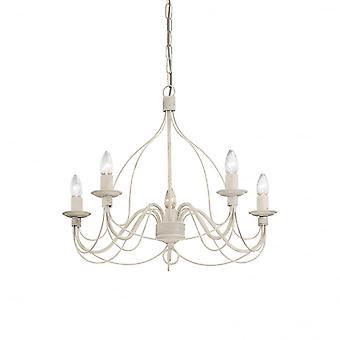 Ideale Lux Corte 5 lamp hanger lichte witte Antico