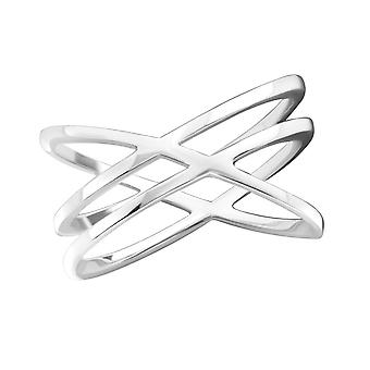 Intertwining - 925 Sterling Silver Plain Rings - W35812x