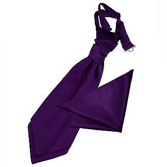Violetti Plain Satiini Cravat & taskussa neliön sarja pojat