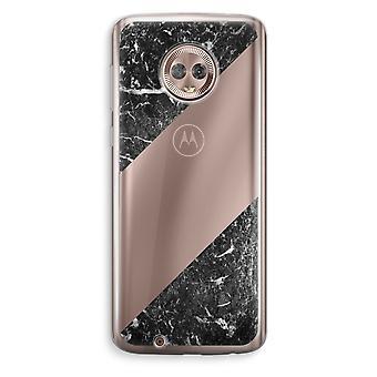 Motorola Moto G6 transparant Case (Soft) - zwart marmer
