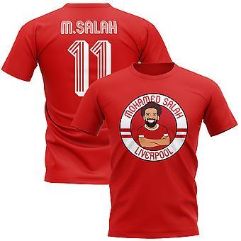 Mohamed Salah Liverpool Illustration T-Shirt (rot)