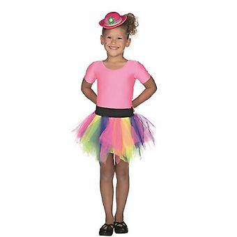 Tulle skjørt fargerike regnbue Tutu for barna klovn sirkus Carnival