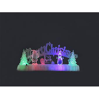 Festive Productions 31cm Battery Operated Merry Christmas Scene Decoration