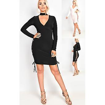 IKRUSH Womens Reyna Wrap Bodycon Dress