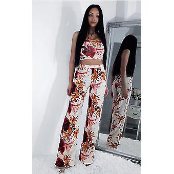 IKRUSH Womens Loriana Floral High Waisted Co-ord
