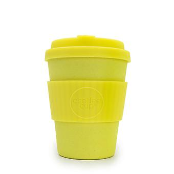Ecoffee Cup Like a Boss with Yellow Silicone 12oz