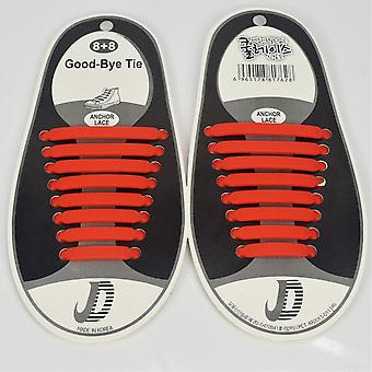 Trendy shoelaces that do not need to be tied 8 pairs, red