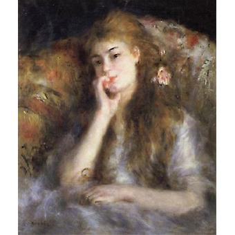 Young Woman Choose (The Thought), Pierre Renoir, 66x 55.5 cm