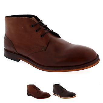 Mens H por Hudson Houghton 2 renda acima do couro inteligente tornozelo Chukka Boot sapato