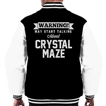 Waarschuwing kan beginnen te praten over de Crystal Maze mannen Varsity Jacket