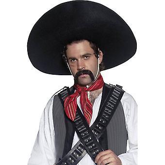 正宗的墨西哥土匪桑布雷罗,一个大小