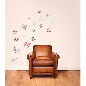 Fabric Reusable Wall Decal Shabby Chic Butterflies