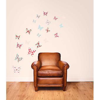 生地の再利用可能な壁のデカールみすぼらしいシックな蝶