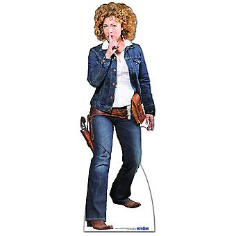 Professeur River Song Cowgirl Outfit - Lifesize Cardboard Cutout / Standee (Alex Kingston)