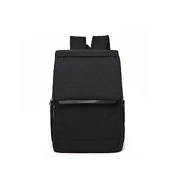 Moderne lærred rygsæk med top låg-sort