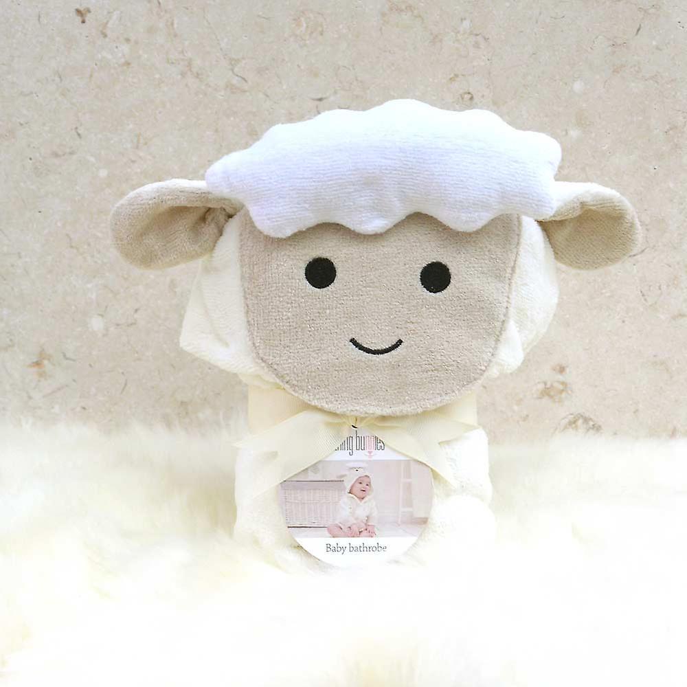 Spring Lamb baby bath robe