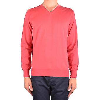 Brunello Cucinelli Ezbc002044 Men's Red Cotton Sweater