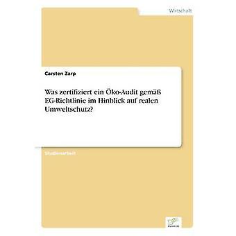 Haltige Ein KoAudit Juwel EGRichtlinie Im Hinblick Auf war realen Umweltschutz durch Zarp & Carsten