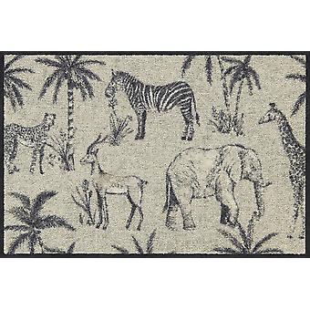 Salon lion Africa animals of washable mats floor mat runner