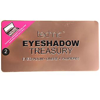 Technic Treasury 24 Shade Eyeshadow Palette Rose Gold