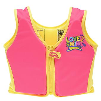 Slazenger Kids Childrens Float Vest Strap Zip Hook Loop Tape Fastening Swim Pool