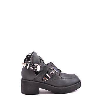 Jeffrey Campbell Ezbc132011 Dames's Black Leather Enkellaarzen