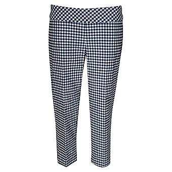 Up! Gingham Pull Up Capri Trousers