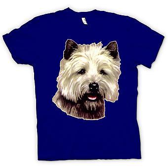 Kvinner t-skjorte - Cairn Terrier Pet - hunden