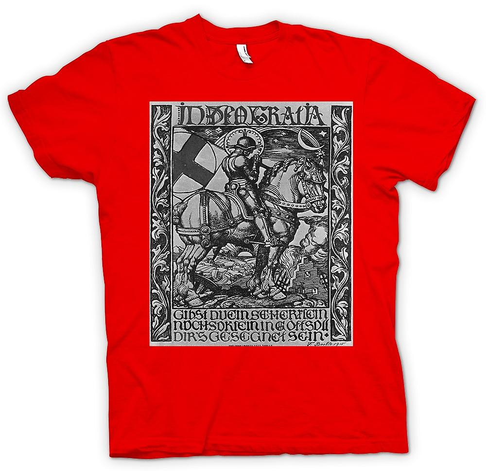 Womens T-shirt - Knight In Armour - War Poster
