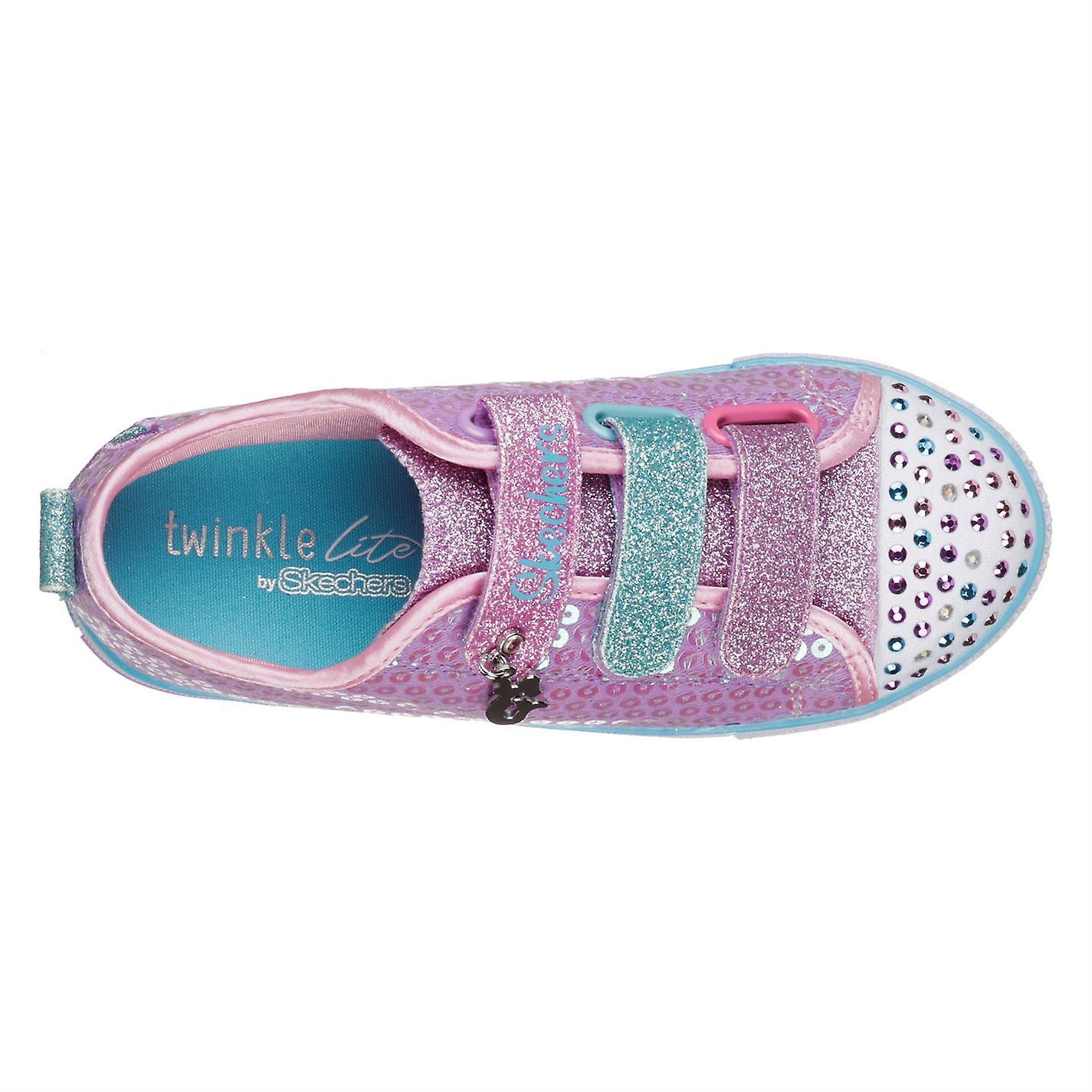Skechers Kids Junior twinkle tenen zeemeermin magische zuigelingen trainers schoenen - Gratis verzending nulB2k