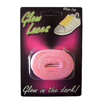 Glow In The Dark Shoe Laces - Pink