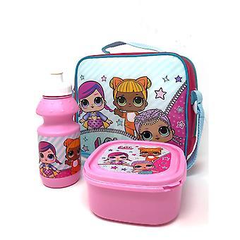 LOL niespodzianka 3 Piece torba na lunch zestaw-różowy