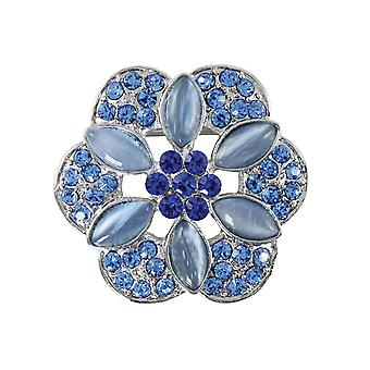 Ewige Kollektion florale Leidenschaften Saphirglas blauen Schal Clip