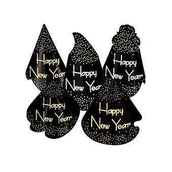 Midnatt Assorted kartong nyår hattar (antal 10)